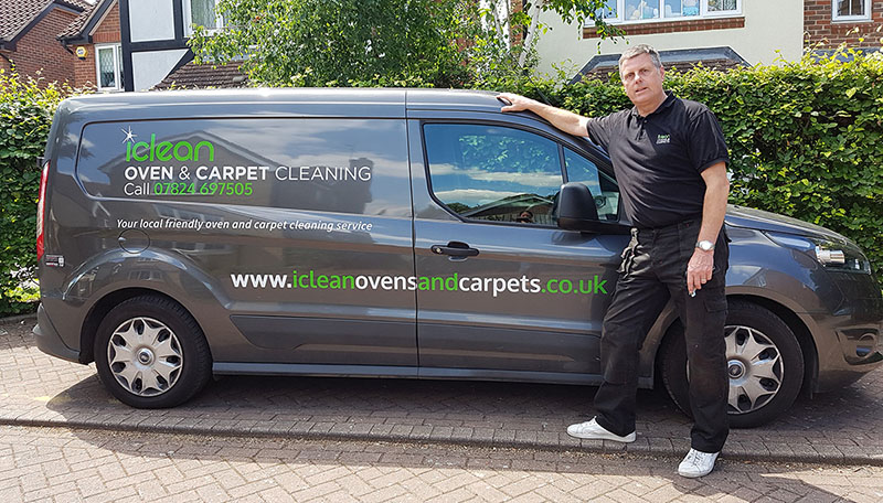 iclean carpet cleaning van with dave